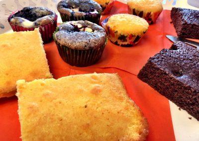 Kuchen und Muffins